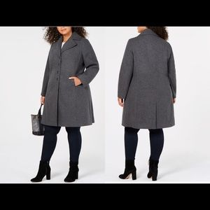 NWT✨Tommy Hilfiger Plus Size Single-Breasted coat